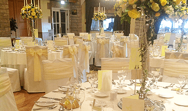 an image showing one of their wedding rooms beautifully decorated by wedding planners for your magical day